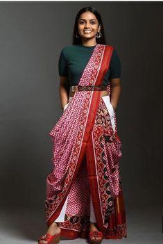 12 Innovative and Stylish Saree Draping Styles By Dolly Jain - Saree Styles Dhoti Saree, Anarkali, Lehenga, Kurti, Indowestern Saree, Saree Wearing Styles, Saree Styles, Sari Draping Styles, Indian Fashion Dresses