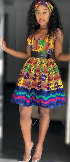 Kente dress with head wrap rocked by efia odo, African fashion, Ankara, kitenge, African women. African Fashion Designers, African Fashion Ankara, Ghanaian Fashion, African Inspired Fashion, Latest African Fashion Dresses, African Print Dresses, African Dresses For Women, African Print Fashion, African Attire