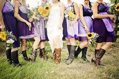 Custom Purple Bridesmaids Dresses by Armour sans Anguish
