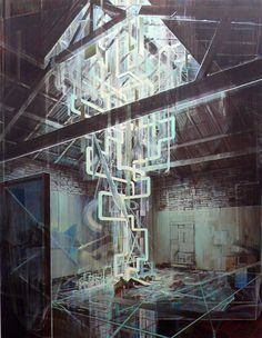 Tom Ormond - Reconstructed Monument to the Future - Oil on linen - 2011
