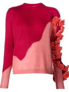 Delpozo Ruffle Detail Knit Sweater - The Webster - Farfetch.com
