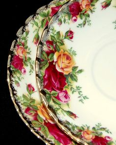 I had a complete service for 8, inherited from my great-grandmother,  but some of the pieces were broken during our move in 2011. It broke my heart, but I treasure what was left. It's unlikely I'll ever feed eight people at once again.  Royal Albert Old Country Roses china
