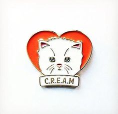 'C.R.E.A.M. Cat' Pin (3 Colors!) : Cats Rule Everything Around Me