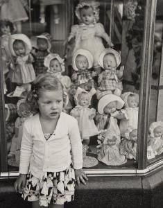 Jim Steinhardt, Girl and Window with Dolls, 1951 (vintage print) To purchase, click on link below.