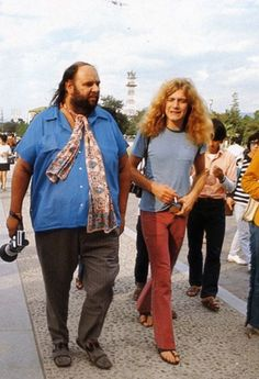 Robert Plant and Peter Grant