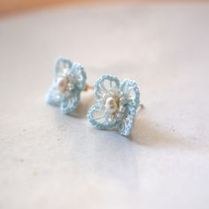 Tatting Earrings, Tatting Jewelry, Bead Embroidery Jewelry, Tatting Lace, Fabric Jewelry, Beaded Embroidery, Crochet Necklace Pattern, Crochet Bracelet, Crochet Bouquet