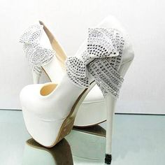 #shoes #white #glitter