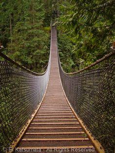 Lynn Canyon Suspension Bridge, Lynn Canyon Park, District of North Vancouver, British Columbia, Canada | by Ei Katsumata, via Flickr