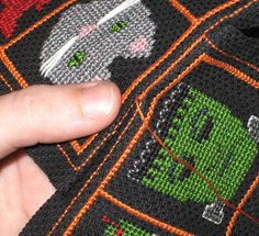 Biscornu tutorial and patterns - Own Two Hands - with notes on even vs.odd number of  stitches