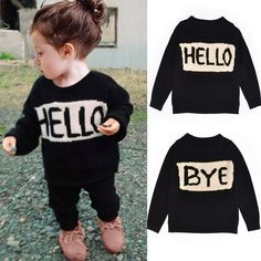 >> Click to Buy << Cute Baby Girls Boys Hello Letter Style Sweaters Kids Long Sleeved Knit Cardigan Sweaters Children Autumn Casual Coat Tops 1-7Y #Affiliate