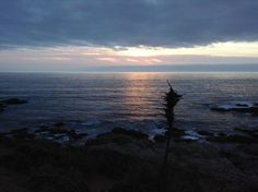 anochecer en Punta de Tralca