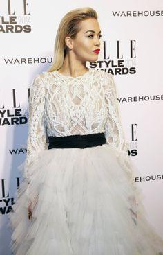Rita Ora Elle Style Awards, Rita Ora, Oras, Erika, Tulle, Crochet, Skirts, Fashion, Moda