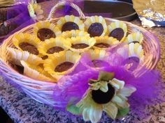 Brownies for sunflower themed party