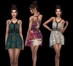Leo 4 Sims: Abernathy Dress • Sims 4 Downloads