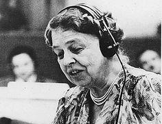Eleanor Roosevelt bij de Verenigde Naties