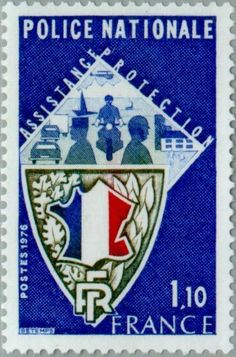 Sello: National Police: Support - Protection (Francia) (Events) Yt:FR 1907,Mi:FR 1995
