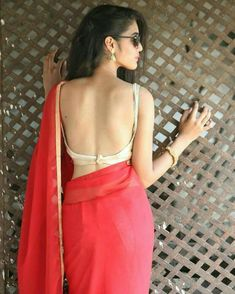 So yes it is good to wear it. check below some indian women wearing some backless blouse. Blouse Back Neck Designs, Sari Blouse Designs, Saree Backless, Stylish Blouse Design, Saree Photoshoot, Saree Trends, Saree Look, Indian Beauty Saree, Saree Styles