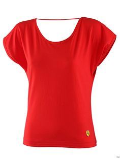 Koszulka damska Ferrari Women Cap Sleeve Tee - Red 3   FERRARI WOMEN \ T-SHIRT   Fbutik   Scuderia Ferrari Collection