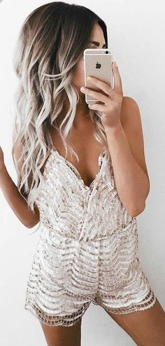 #summer #girly #outfits | Fishnet Romper