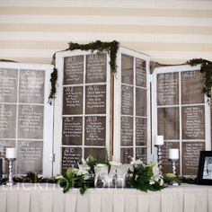 window table assignments wedding - Google Search