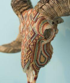Beaded Animals Skulls Sculptures Harison Carter... - ARTENSION