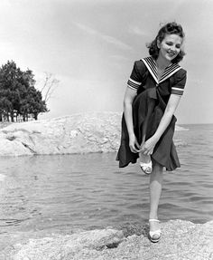Model in a sailor dress, photo by Alfred Eisenstaedt, c.1940