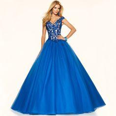 Cheap Long Evening Dresses 2017 Abendkleider V Neck Cap Sleeve Red Royal Blue Vestidos De Fiesta Largos Evening Gowns