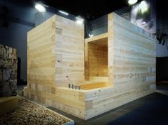 Photos of Kyly-project by Avanto Architects (FIN) at the Habitare Expo 2009 Helsinki Finland. Timber Architecture, School Architecture, Building A Sauna, Sauna House, Sauna Design, Outdoor Sauna, Design Competitions, Old Buildings, Architect Design