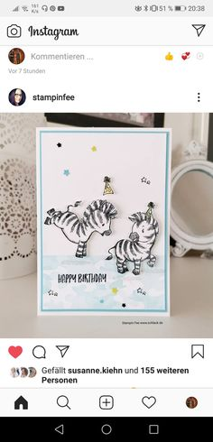 Homemade Birthday Cards, Baby Zebra, Stamping Up Cards, Animal Cards, Zebras, Anniversary Cards, Diy Cards, Cardmaking, Projects To Try