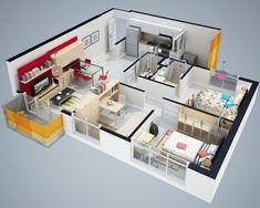 Dise O Del Interior De Departamentos En El Df Azcapotzalco Ideas Para3d House Planshouse Plans Designhouse