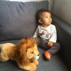 cute biracial baby boy
