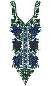 9288 Neck Embroidery Design