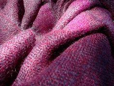 Schals - Handgewebter Mohairschal - ein Designerstück von…