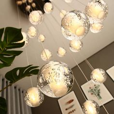 Modern Crystal Glass Ball LED Pendant Lights Fixtures Multiple Staircase Lamps Bar Hanging Lamp For Hotel Villa Duplex Apartment Buy on Aliexpress Led Pendant Lights, Glass Pendant Light, Pendant Light Fixtures, Globe Pendant, Glass Pendants, Pendant Lighting, Unique Lighting, Bubble Chandelier, Bucket Lists