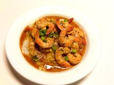 Spicy New Orleans BBQ Shrimp & Grits