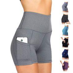 Short De Sport pour Femme Pantalon De Yoga Pantalon De Sport Skinny Taille  Haute Fitness Course Jogging(Gris Clair XL) f0a05fa9aea