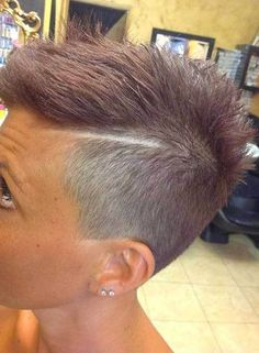 10 More Super Short Hair Ideas on Pretty Ladies: #8. Disconnected Shaved Side Haircut for Girls