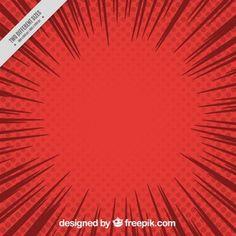 Fundo vermelho Comic no estilo do pop art