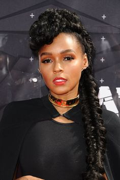 Janelle Monae An extravagant high-top braid fit for a queen.