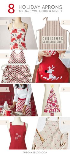 Christmas calories don't count!  |  8 Holiday Aprons to make you merry and bright | on TheCakeBlog.com
