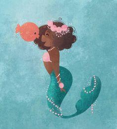 A black mermaid