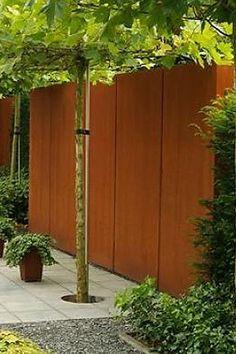 Clôture de jardin - Mur en acier corTen - Artiplant. Des solutions créatives aux lignes épurées, créez vos espaces avec plaisir. Mur de jardin sur mesure