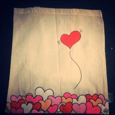 Tie Dye Painting, Dress Painting, Fabric Painting, Painted Bags, Painted Clothes, Diy Tote Bag, Valentines Day Hearts, Posca, Simple Bags