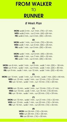 Workout Tips - 7 Day Plans : awesome awesome How to begin running, fitness, weight loss, walker, health - Fit. - All Fitness Fitness Workouts, Fitness Diet, Fitness Goals, At Home Workouts, Health Fitness, Fitness Plan, Yoga Fitness, Health Diet, Treadmill Workouts