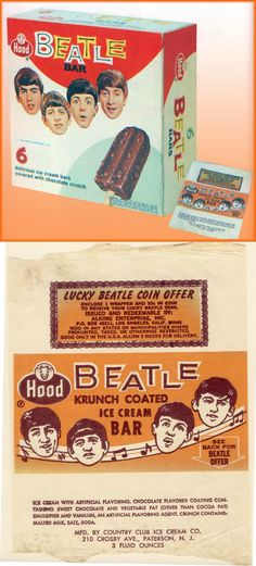 1964 Beatle Bar Ice Cream by Hood, New Jersey