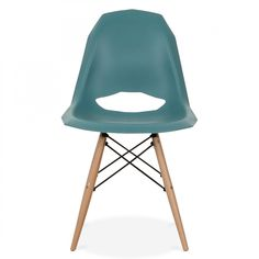 Charles Eames Style Teal Contemporary DSW Dining Chair