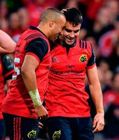 Good form: Simon Zebo, left, and Conor Murray. Munster Rugby, Irish Rugby, Rugby Sport, World Rugby, Rugby Players, Biceps, Champion, Tattoo, My Love