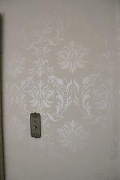 damask wall stencil - this is exactly what I want to do in the dining room...so gorgeous!!
