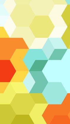 Cubes And Hexagons #iPhoneWallpaper