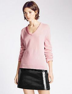 Buy the The Wellington Jumper from Marks and Spencer's range. Alexa Chung, Leather Skirt, Archive, Blouse, Skirts, Jumpers, Stuff To Buy, Image, Collection
